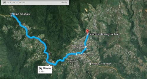Alright.. lets continue to the Homestay..Dizz Homestay..according to Google it's another 10 minutes.. or around 8km